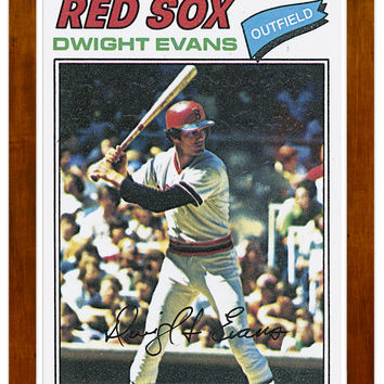 1977 Dwight Evans Archive Print #25-Brown-17.25 x 21.35