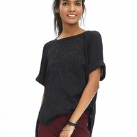 Banana Republic Womens Animal Jacquard Raglan Top
