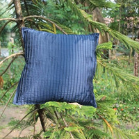 Decorative Navy Blue Pintuck Throw Pillow cover Home Decor Accent Pillows 16 x 16 Pillow Cover Cushion Cover
