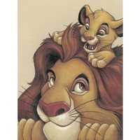 The Lion King Movie Simba and Mufasa My Father My Friend Disney Poster Print - 12x16 Art Poster Print, 12x16