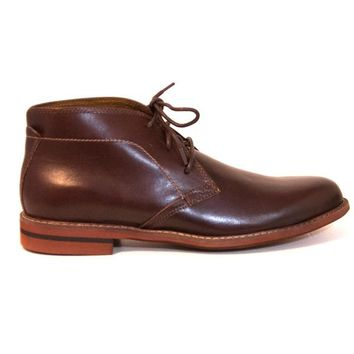 Florsheim Doon Chukka - Brown Leather Lace-Up Ankle Boot