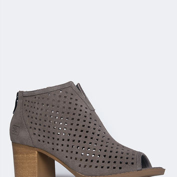 Too Cute Low Wedge Bootie