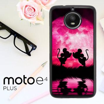 Mickey Minnie Mouse Silhouette W4418 Motorola Moto E4 Plus Case