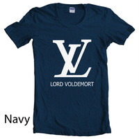 LV Lord Voldemort Navy Women T-Shirt size S to 2XL tee