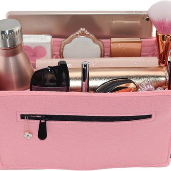 Laela Luxe Felt Handbag Purse Organizer, 14 Pockets, 2 Sizes - Tote & Handbag Shaper