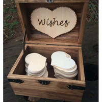 Wooden Wedding Wishes Chest - Early American