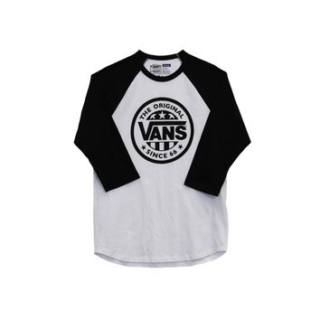 Mens Vans Baseball Tee, Black White | Journeys Shoes