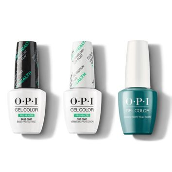 OPI - GelColor Combo - Base, Top & Dance Party 'Teal Dawn