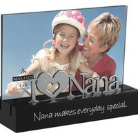 Malden Nana Desktop Expressions Frame with Silver Word Attachment, 4 by 6-Inch