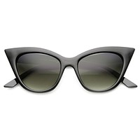 Women's Vintage Era High Pointed Oversize Cat Eye Sunglasses 9780