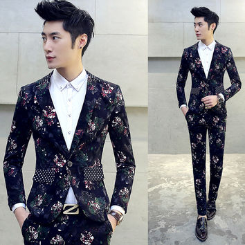 Costume homme tuxedo mens prom suits trajes de hombres de vestir gold tuxedo jacket red black tuxedo men's suits slim fit suit