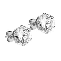 Mister Circle Stud Earrings - Chrome