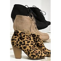 Lace Up LA Booties