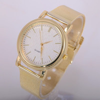 Womens Stainless Steel Gold Watch