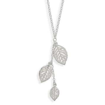 Three Leaf Drop Necklace