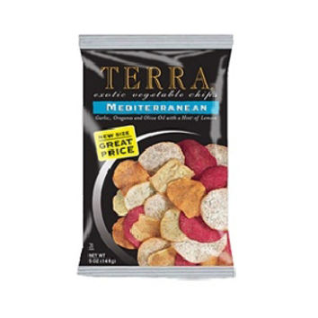 Terra Exotic Vegetable Chips Mediterranean 6.8 oz Bags - Pack of 12