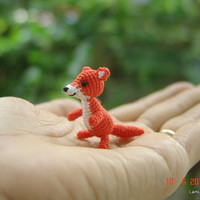 Miniature baby fox - Tiny amigurumi crochet animal