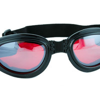 Red Lens Black Frame Anime Goggles Sport Sunglasses Cosplay Cyber Industrial