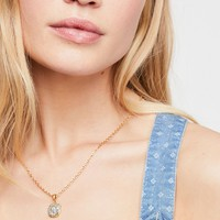 24k Pavia Coin Necklace