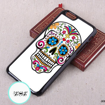 Flowers skull iPhone 6 case iPhone 5S case Resin iPhone 5c 4S Christmas gift iPhone 6 plus Samsung Galaxy S3 S4 S5, Note 2/ 3 - S0047