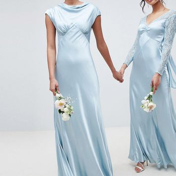 Ghost bridesmaid maxi dress with cowl neck at asos.com