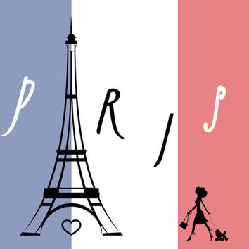 Paris Printable ~ Eiffel Tower Decor Instant Download ~ Paris Cityscape Audrey Hepburn Digital Print, Paris Wall Art Printable, Digital Art