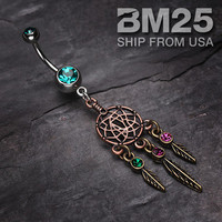 Majestic Elegance Dream Catcher Belly Ring