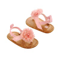 Carter's Chiffon Rosette Sandals - Newborn Girl (Pink)