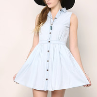 Light Washing Denim Dress