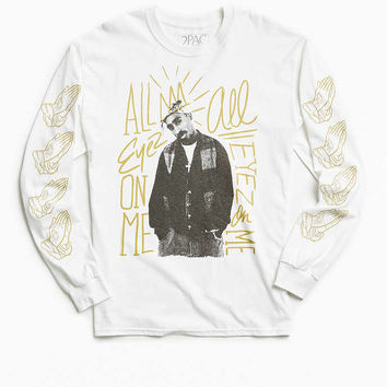 2Pac All Eyez Long Sleeve Tee - Urban Outfitters