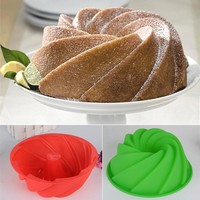 1pc spiral shape cake Maker Baking Tray Mould Chocolate cookie Baking Pudding Kitchen Cake tools Baking Biscuit mold supplies