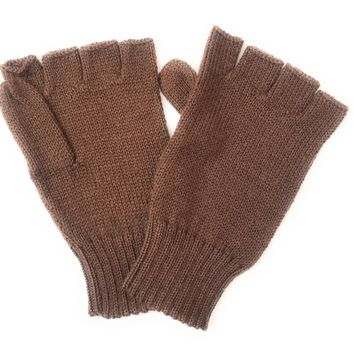 Men's Alpaca fingerless gloves. Warm, hypoallergenic.