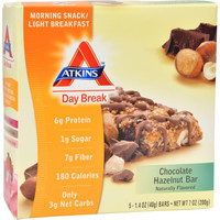 Atkins Day Break Bar Chocolate Hazelnut - 5 Bars