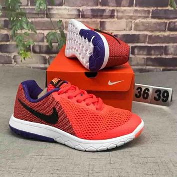 NIKE FLEX EXPERIENCE RN 6 Popular Men Casual Color Matching Comfortable Shock Absorption Breathable Sport Running Shoe Sneakers Orange Red I-CSXY