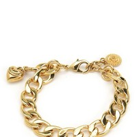 Gold Mini Charm Bracelet by Juicy Couture, O/S