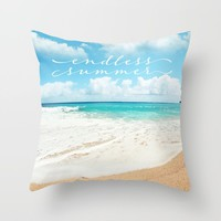 endless summer Throw Pillow by sylviacookphotography