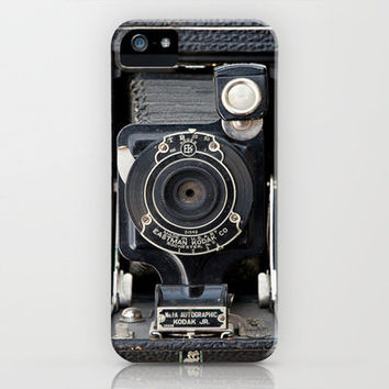 Vintage Autographic Kodak Jr. Camera iPhone Case by Typography Photography™ | Society6