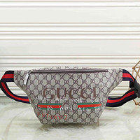 Gucci Men Leather Purse Waist Bag Single-Shoulder Bag Crossbody