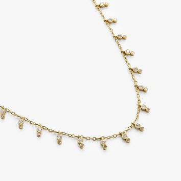 Kothari Stacked Demi-fringe Necklace Diamond, Gold