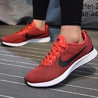 Nike Dualtone Racer men's and women's sports fashion casual running shoes F-CQ-YDX Red