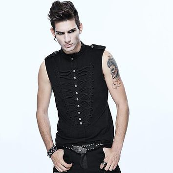 Men's Steampunk Gothic Sleeveless Shirt