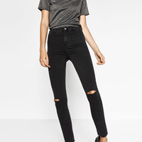 HIGH ELASTICITY HIGH-WAISTED JEGGINGS DETAILS