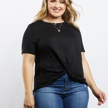 Plus Size Twisted Tee