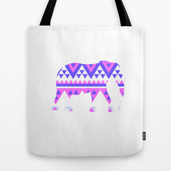 Elephant Tribal  Tote Bag by Ashley Hillman