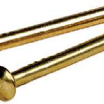 "Hillman Fasteners 122628 Escutcheon Pin, 3/4"" x 18, Solid Brass"
