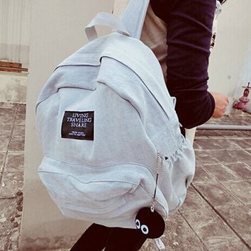 Travel backpack denim