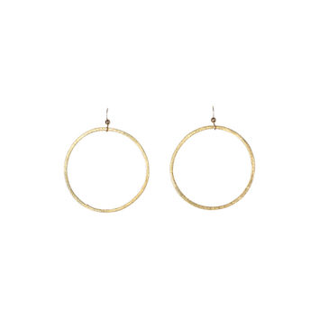 Extra Large Brushed Hoop Earrings