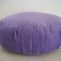 Round Zafu Meditation Cushion in Lavender Corduroy. Polyfiber Filled. Made by a Small Business in the USA