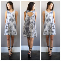 A Grey Marbled Potato Sack Dress