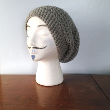 Men's Slouchy Beanie - Crochet Beanie - Hipster Beanie - Summer Beanie - Small Dread Tam - Teen Girls Slouch Hat - Knit Men's Beanie